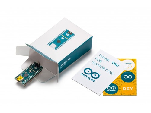 Arduino Nano microcontroller with Arduino CC box
