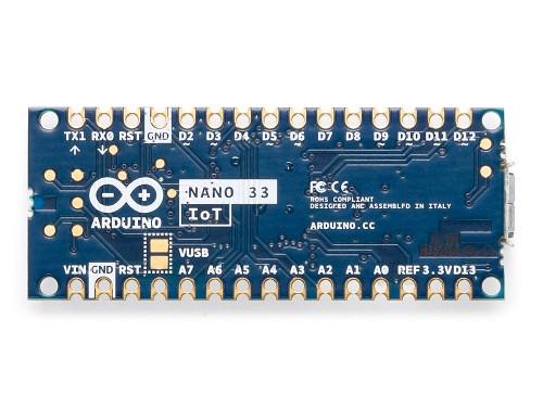 Arduino nano 33 IoT back