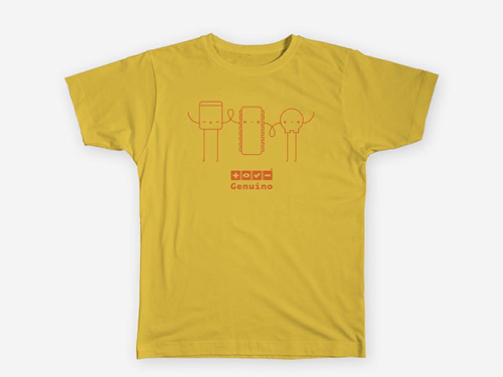T- Shirt Genuino Characters Yellow