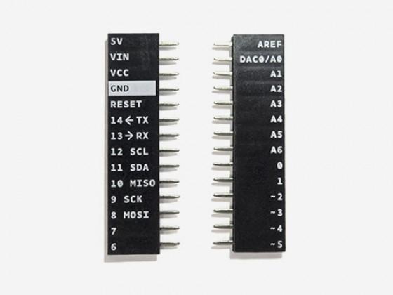 Female Headers 14 ways Arduino MKR1000 Printed