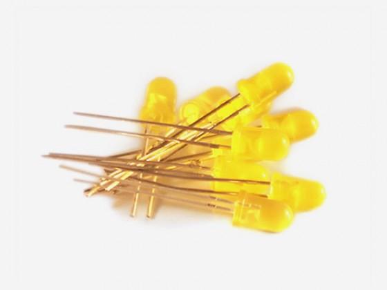 10 Yellow LED 5mm