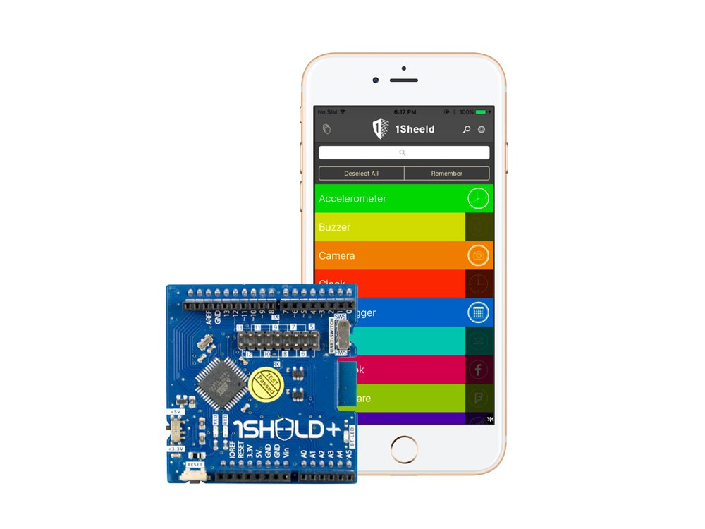 Sheeld ios android phone bluetooth for arduino