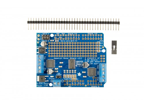 A full-featured motor shield, able to power simple/medium complexity projects.