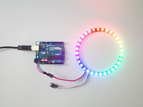 Rgb smart led pixels ring