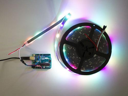RGB Addressable LED Strip (SK6812) Black PCB weatherproof - 30