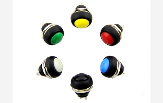 12mm Domed Pushbutton Pack