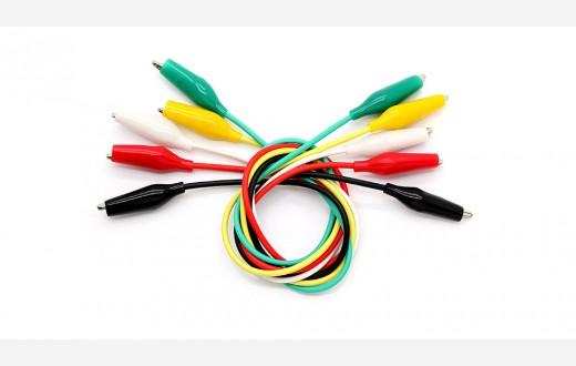 Alligators test wires colored (50 cm*10) pack