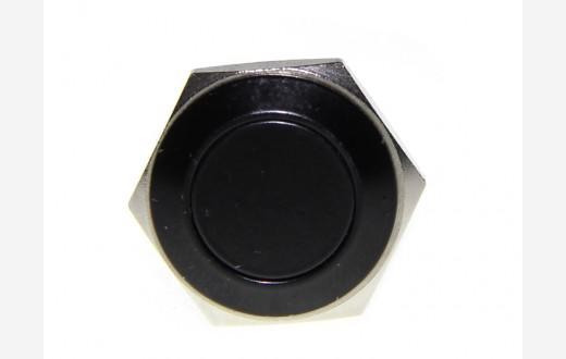 16mm Anti-Vandal Metal Push Button - Carbon Black