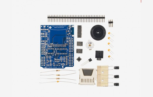 Adafruit Wave Shield Kit for Sound, Music & Audio