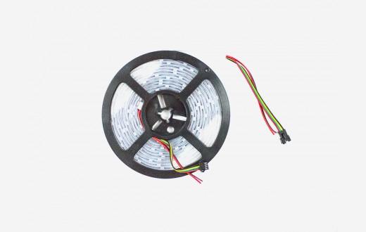 RGB Addressable LED Strip (APA102) White PCB - 30 pixels per meter - 5m reel