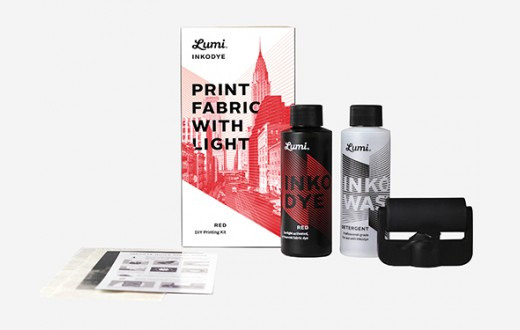 Lumi Print Fabric With Light Kit - Inkodye Red
