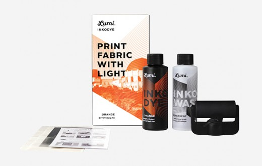 Lumi Print Fabric With Light Kit - Inkodye Orange