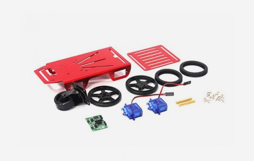 Mini Robot Chassis Kit - 2WD with DC Motors
