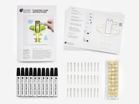 Bare Conductive - Flashing Card Pack - Robot Parade