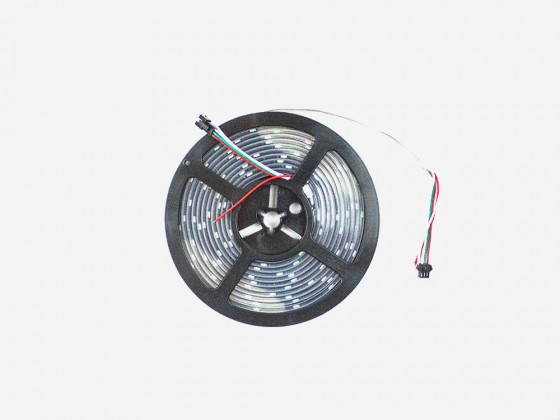 RGB Addressable LED Strip (SK6812) Black PCB weatherproof - 30 pixels per meter - 5m reel
