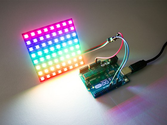 Flexible RGB Smart LED Matrix 8x8