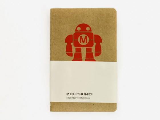 Make Robot Notebook Pocket Moleskine